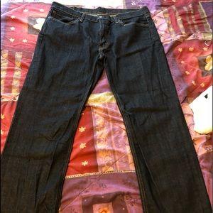Levi's dark wash jeans. Athletic fit. W38 L32